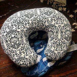 Nursing Boppy Pillow + Extra Cover